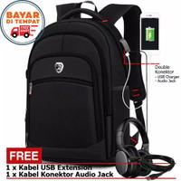 Tas Ransel Pria PL POWER PL300 Import Port USB Charger + Bonus Lainnya
