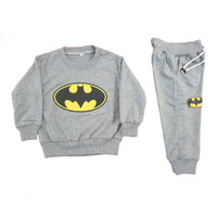 Baju Tidur Piyama Anak Laki laki Setelan Jogger Batman 2-6 tahun