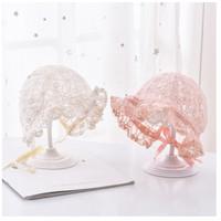 Topi BAYI Cantik - Topi Kupluk Bayi Cantik Dan Imut - Putih
