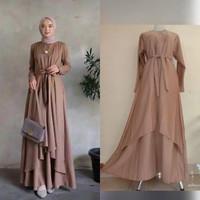 Baju Gamis Syari Dress Pesta Muslimah Maxi Dress Muslim Alana
