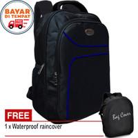 PROMO !! Tas Ransel Pria POLO CG303 Ransel Laptop 17 Inch + Bag Cover
