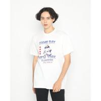 Kaos Pria Erigo T-Shirt Game Day Rangers Cotton Combed White - S