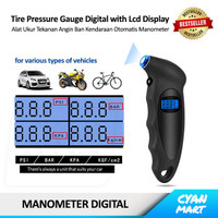 Auto Tire Pressure Gauge Alat Ukur Tekanan Ban Mobil Motor Digital