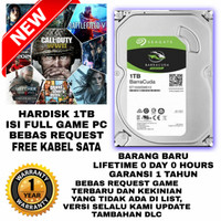 Hardisk HDD PC 3.5 Internal 1TB Isi Full Game PC Seagate Barracuda