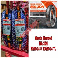 Sepasang Ban Maxxis 90/80-14 Dan 100/80-14 Diamond MA-3DN Free Pentil