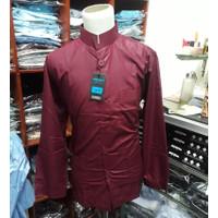 Baju Koko Ammu Original Merah Maroon