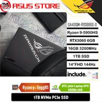 ASUS ROG ZEPHYRUS G14 GA401QM RYZEN 9 5900HS 16GB 1TB RTX3060 6GB OHS