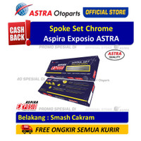 Spoke Set Chrome ASPIRA EXPOSIO Belakang Motor Smash Cakram