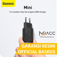 KEPALA CHARGER TYPE C PD BASEUS QUICK CHARGER 25W SAMSUNG XIAOMI PAD