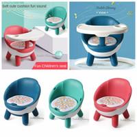 Kursi Makan Bayi Model Oval - Biru