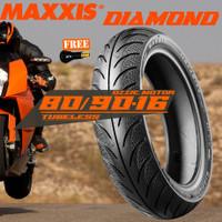 BAN BELAKANG MOTOR MAXXIS DIAMOND MA-3D 80/90-16 IMPORT SKYWAVE NOUVO