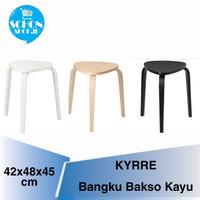 Kursi Cafe Bangku Baso / Kursi Bakso Kayu Wood bisa Ditumpuk KIRE - Kayu