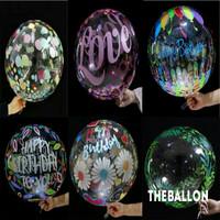 Balon Pvc Transparan Bermotif Size 18 inch