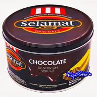 Biskuit Selamat Chocolate 200gr Kemasan Kaleng