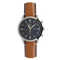 Jam Tangan Pria Fossil Townsman FS5279 Chronograph Luggage Brown Strap