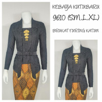 Indah KEBAYA BROKAT KUTUBARU LENGAN 7/8 Furing Katun S M L XL XXL 9643