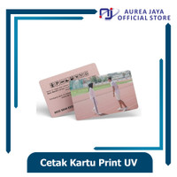 Cetak ID Card PVC Print UV Ultraviolet Custom Anti Gores & Anti Luntur