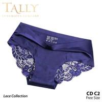 TALLY C2 Celana Dalam Brokat Renda Halus Dan Modis Cd Transparan