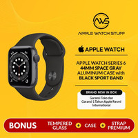 Apple Watch Series 6 44mm Space Gray Aluminum with Black Sport Band