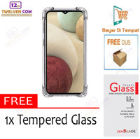 Case Anti Crack Softcase Casing for Samsung M12 - Free Tempered Glass