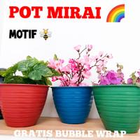 Grosir Pot Tanaman Ukuran 18 - Pot Motif Super Tawon Pot Bunga Warna