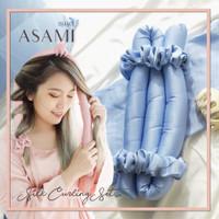 ASAMI Silk Heatless Curling Set Ribbon Wrap warna HEATHER BLUE