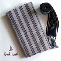 Kain Lurik Abu Abu Hitam / Batik Lurik Abu Abu / Bahan Baju Adat Jawa