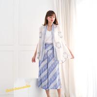 Setelan Batik Wanita. Vest Rompi dan Kulot crop pants - Koi