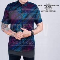 Baju Kemeja Songket Batik Cowok Lengan Pendek Kemeja Formal Pria
