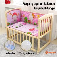 Baby Box Ranjang Bayi dengan Kelambu Ayunan Tempat Tidur Bayi - Complete Set