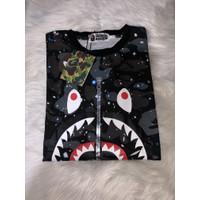 Kaos Bape Shark Tee Camo T-shirt Aape Original Glow In The Dark