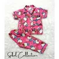 Piyama Anak/Baju Tidur Anak Perempuan Hello Kitty Terbaru