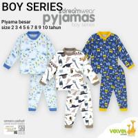 Piyama Big Size 4 5 6 7 8 9 10 Velvet Junior Setelan Baju Tidur Anak
