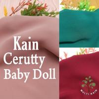 Bahan Multi Kain Ceruti Cerutty Cerutti Seruti Baby Doll per 0.5Meter - 41 hitam