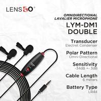 Microphone Lensgo Mini Lavalier LYM-DM1 Double