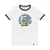 BABY ZOMBIE - Flutter White Ringer Tshirt