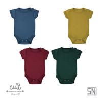 CUIT Bodysuit Short Sleeve (Jumper Bayi) - BLOCK COLOR