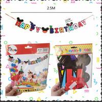 Banner Happy Birthday Mickey Minnie Mouse Jumbo Dekorasi Ulang Tahun