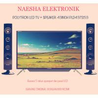 POLYTRON LED TV 43inch + SPEAKER PLD43TS153