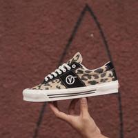 Sepatu Vans Vault OG SID LX Black Leopard Marshmallow Original