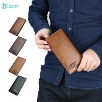 Bitzen COD Dompet Panjang Kulit Pria Lipat Tipis Fashion Long Wallet