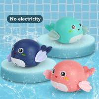 Mainan mandi bayi anak Baby Ikan Paus air Model Bergerak Berenang Toys
