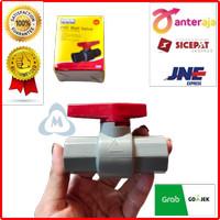 TERMURAH Stop Kran 1/2 Plastik - Ballvalve Plastik- Ball Valve PVC