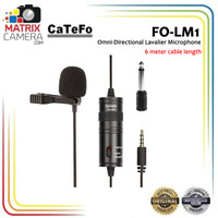 Catefo FO-LM1 Clip On Mic Microphone for Camera Smartphone PC