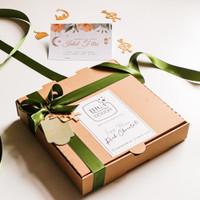 Homemade FUDGY BROWNIES 24 Slice Rich Chocolate #dirumahaja - Polos SALT, Packing Standar