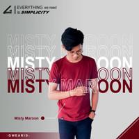 Kaos Polos Premium Misty/Twotone Cotton Combed 30s - Merah Maroon - S