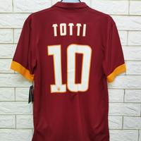 Jersey kaos baju bola asli original As Roma home 2014 Totti BNWT