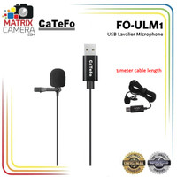 Catefo FO-ULM1 Clip On USB Lav Mic Microphone for PC & Mac