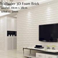Wallpaper Stiker Dinding 3D Foam Brick Batu Bata