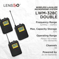 Microphone Clip On LensGo LWM-328C Double Wireless Lavalier